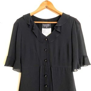CHANEL | Vintage Black Mini Dress